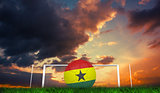 Composite image of football in ghana colours