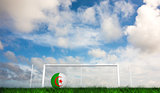 Composite image of football in algeria colours