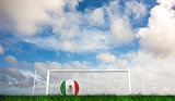 Composite image of football in mexico colours