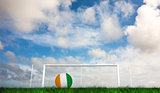 Composite image of football in ivory coast colours