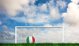 Composite image of football in italy colours