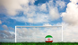 Composite image of football in iran colours