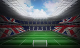 Composite image of digitally generated uk national flag