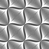 Black and white simple wavy onion shapes pattern
