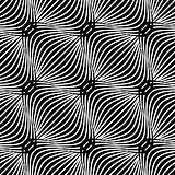 Black and white simple wavy pattern