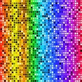 Bright rainbow colored rectangle mosaic seamless pattern