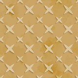 Brown recycling paper stars seamless pattern