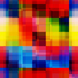 Rainbow blurred pixels seamless pattern