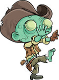 Cute cartoon zombie cowboy