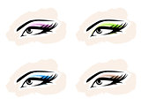 Woman Eye Set