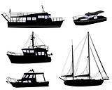 boats silhouettes