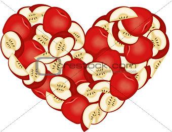 Apple Heart Shaped