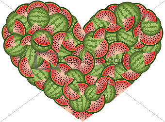 Watermelon Heart Shaped