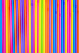 Drinking straws as colorful background.
