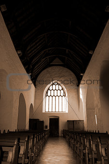 aisle at the chapel of Holycross abbey