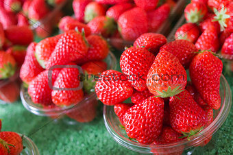 Group of Fresh Strawberry