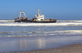 Shipwreck on a beach, Skeleton Coast