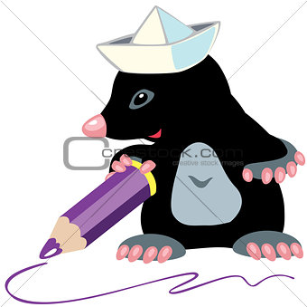 cartoon mole artist