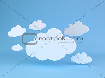 Abstract shapes of clouds.