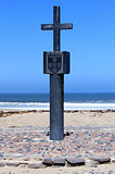 Stone cross at Cape Cross Bay, Skeleton Coast Namibia