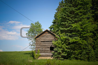 Old wood small cabin