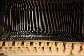 old typing machine background