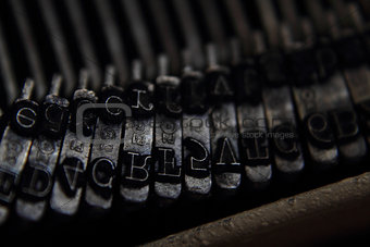 old typing machine background