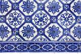 Handmade traditional Portugese Tile (azulejos), Lisbon, Europe