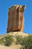 Rock finger near Outjo in Namibia