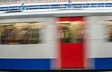 Abstract motion blur of train