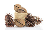 Othalanga - Suicide tree seed and cedar pine cone in sacks fodde