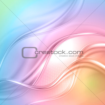 Abstract colorful wave background.