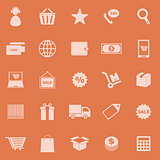 E-commerce color icons on orange background