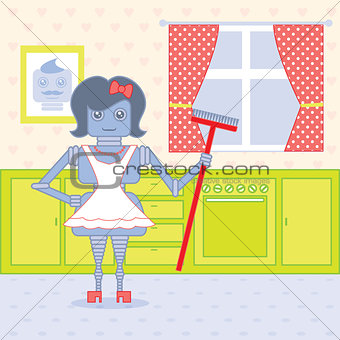 robot housewife