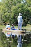 Ride in a traditional Okavango Delta mokoro canoe,