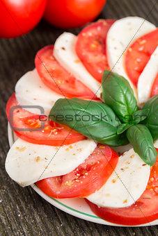 Tomatoes with mozzarella