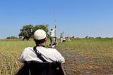 Ride in a traditional Okavango Delta mokoro canoe,