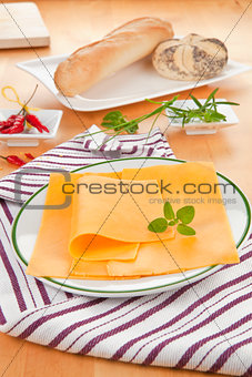 Cheese slices.