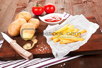 French fries still life.
