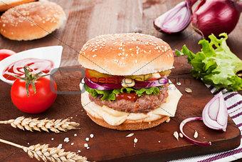 Country style hamburger.
