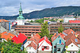 Top-view of Bergen, Norway