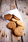 fresh crispy oat cookies