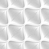 White diagonal wavy net layered seamless pattern