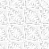 White geometrical diagonal onion shape seamless pattern