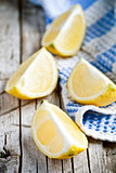fresh juicy sliced lemon