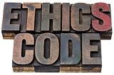 ethics code in wood type