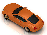 Luxury car orange