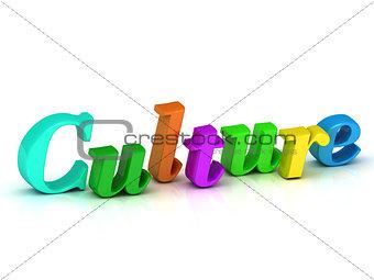 culture 3d inscription bright volume letter