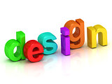 design 3d inscription bright volume letter