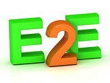 E2E 3d inscription bright volume letter